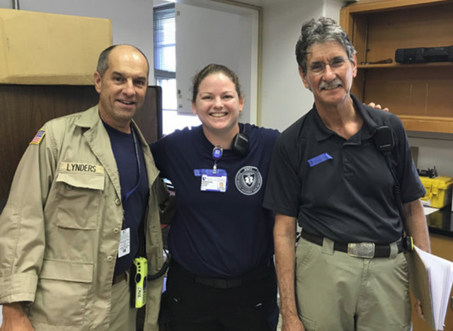 Bill Lynders, Brenda Lanan and wes wallace responding to florence